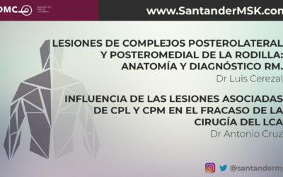 Lesiones de CPL y CPM de la rodilla: Anatomía y diagnóstico RM + Influencia de las lesiones asociadas de CPL y CPM en el fracaso de la cirugía del LCA