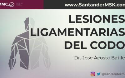 Lesiones ligamentarias del codo. Dr. José Acosta Batlle